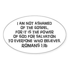 Romans 1:16 Oval Decal