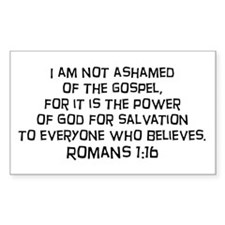 Romans 1:16 Rectangle Stickers