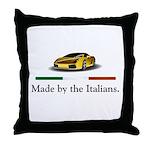 Lamborghini Italian Throw Pillow