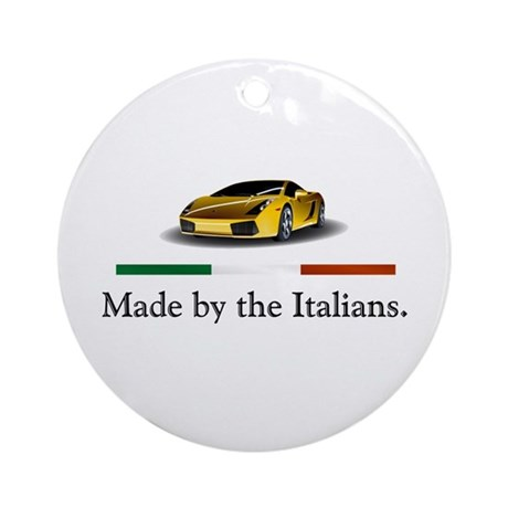Lamborghini Italian Ornament (Round)