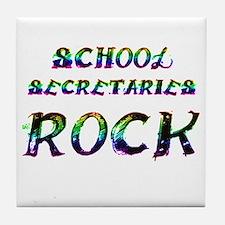 Funny Secretaries day Tile Coaster
