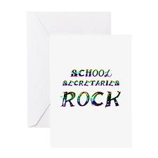 Funny School secretary day Greeting Card