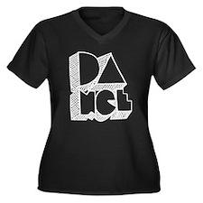 Cute Rock the house Women's Plus Size V-Neck Dark T-Shirt
