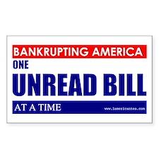 Bankrupting America Decal