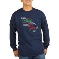 Twilight New Moon Christmas Long Sleeve Dark Tee