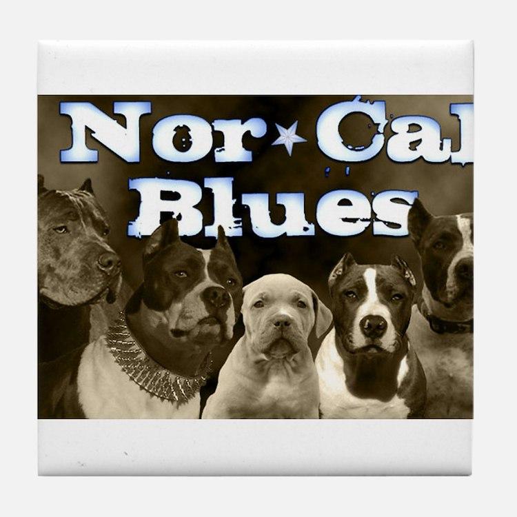Nor Cal Blues Tile Coaster