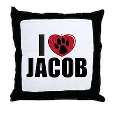 """I Heart Jacob"" Throw Pillow"