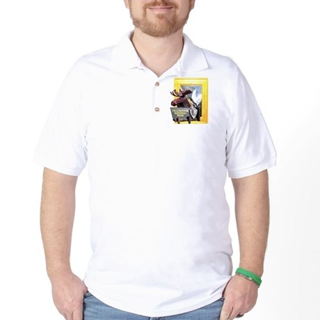 Yellowstone national park moose Golf Shirt