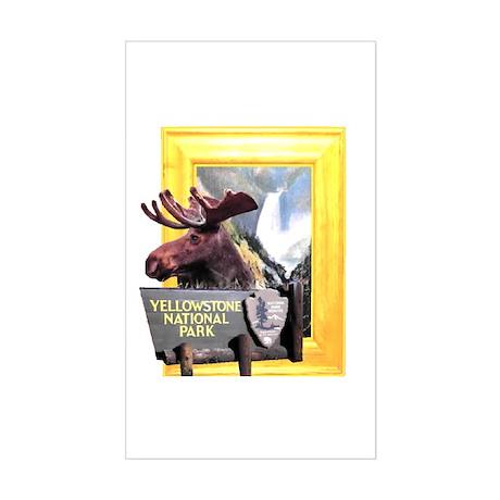 Yellowstone national park moose Sticker (Rectangle
