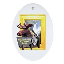 Yellowstone national park moose Ornament (Oval)