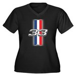 Cars 1933 Women's Plus Size V-Neck Dark T-Shirt