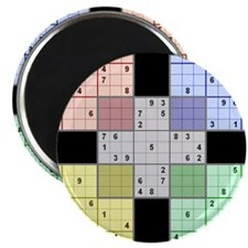 Black Sudoku Magnet