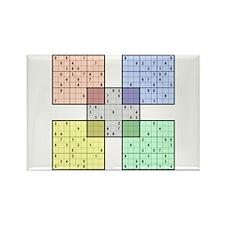 White Sudoku Rectangle Magnet