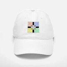 White Sudoku Baseball Baseball Cap