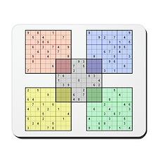 White Sudoku Mousepad