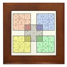 Sudoku Framed White Tile