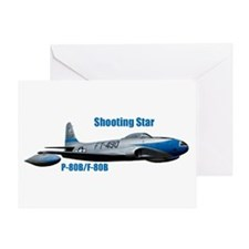 F-80B Shooting Star Greeting Card