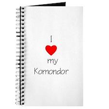 I Love My Komondor Journal