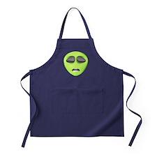 Scared Alien Face Apron (dark)