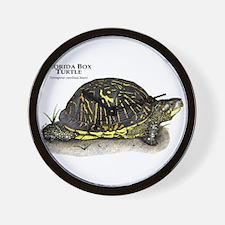 Florida Box Turtle Wall Clock