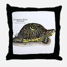 Florida Box Turtle Throw Pillow