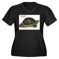 Florida Box Turtle Women's Plus Size V-Neck Dark T