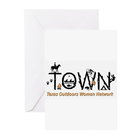TOWN logo Greeting Cards
