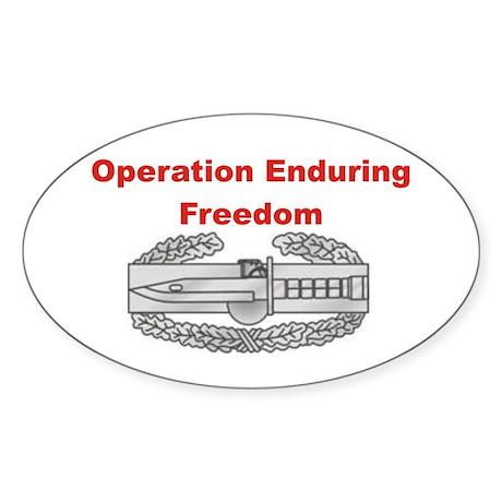 OEF Oval Sticker