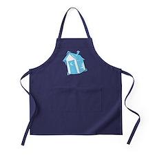 Blue Outhouse Apron (dark)