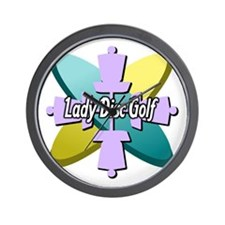 Lady Disc Golf Multi Wall Clock