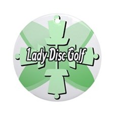 Lady Disc Golf Mint Ornament (Round)