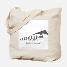 """Hang Gliding Evolution"" Tote Bag"
