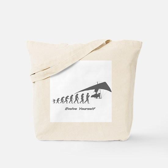 """Hang Gliding Evolution"" Tote Bag"