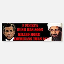 Bush Bin Laden Political Bumper Bumper Bumper Sticker