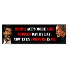 anti Bush torture Sticker Bumper