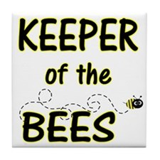 Keeper of Bees Tile Coaster