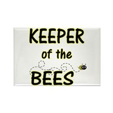 Keeper of Bees Rectangle Magnet
