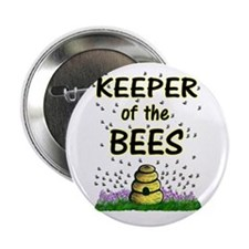 """Keeping bees 2.25"""" Button"""