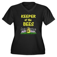 Keeping bees Women's Plus Size V-Neck Dark T-Shirt