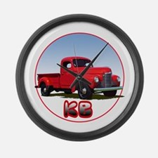 The KB pickup truck Large Wall Clock