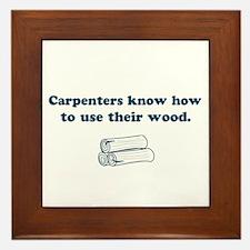 Funny Carpenters Framed Tile