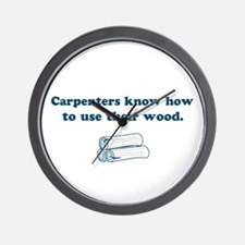 Funny Carpenters Wall Clock