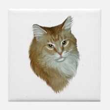 Orange Tabby Tile Coaster