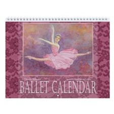 Ballet Watercolor Wall Calendar