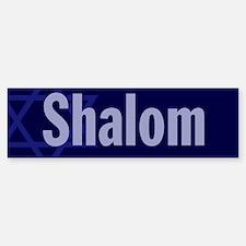 """Star of David """"Shalom"""" Bumper Bumper Bumper Sticker"""