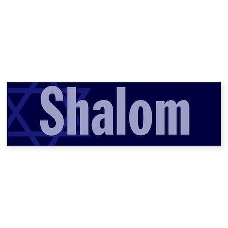 "Star of David ""Shalom"" Bumper Sticker"