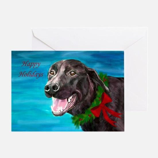 Black Labrador Rescue Dog Holiday Card