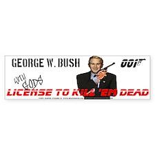 anti Bush fun bumper Sticker license to kill