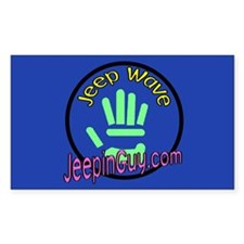Jeepin' Guy Rectangle Decal