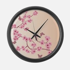 Cool Cherry blossom Large Wall Clock
